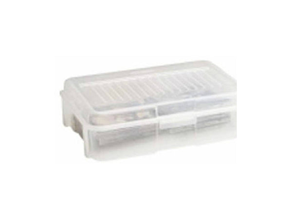 Rubbermaid® 2282 Stackable Snap Storage Case, 1.8 Gallon, Clear