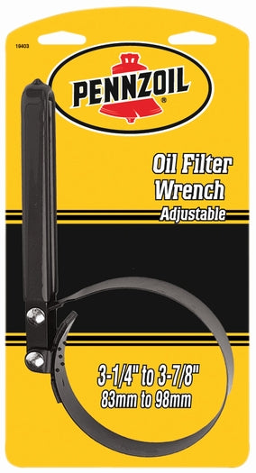 Custom Accessories 19403 Pennzoil® Large Strap Adjustable Oil Filter Wrench