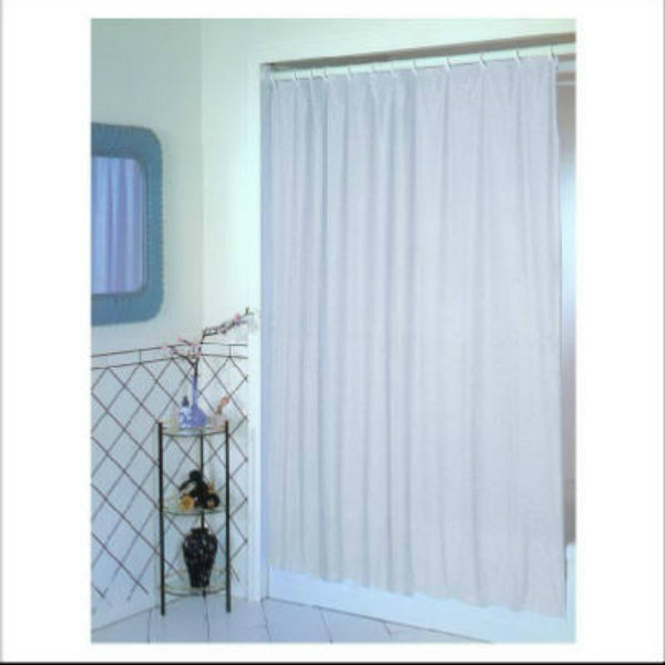 "Ex-Cell 1ME-040O0-0470-100 PEVA Glitter Shower Curtain, White, 70"" x 72"""