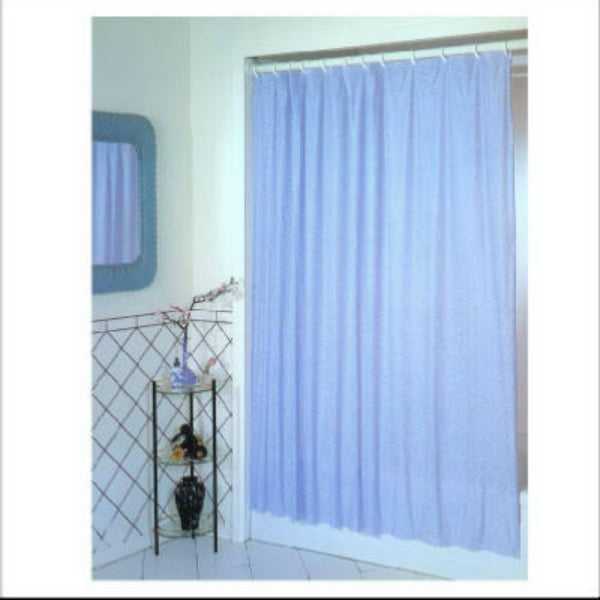 "Ex-Cell 1ME-040O0-0470-431 PEVA Glitter Shower Curtain, Light Blue, 70"" x 72"""