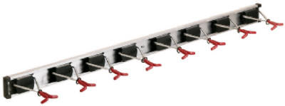 Crawford 36360-6 Rail Wall Rack With 8 Hooks, 36""