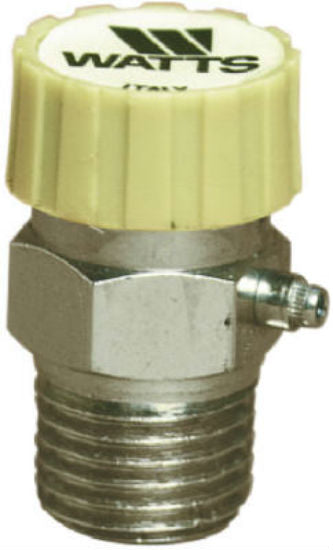 "Watts® HAV-1/8 Hot Water Baseboard Vent Valve, 1/8"", Chrome Plated"