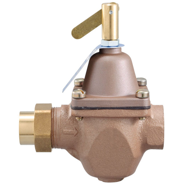 "Watts 0950001 High Capacity Feed Water Pressure Regulator, 1/2"", Iron & Bronze"