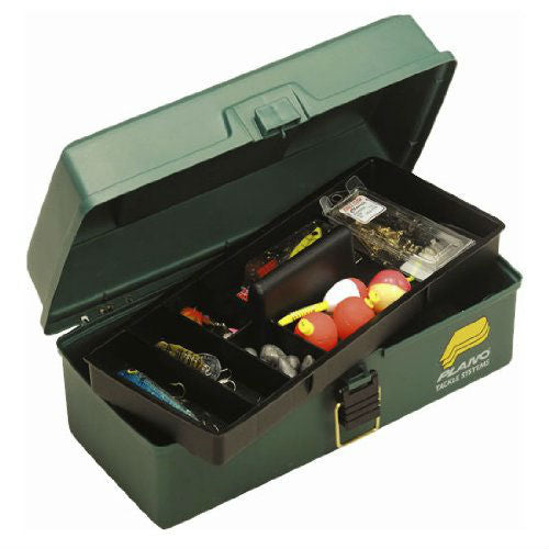 Plano® 1001-03 One Lift Out Tray Tackle Box, Dark Green