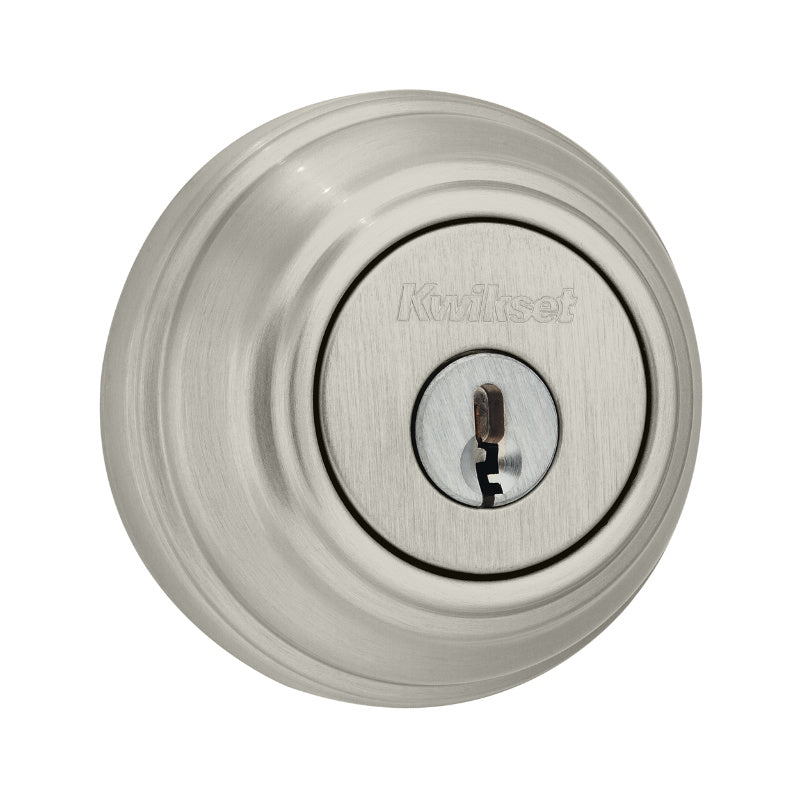Kwikset® 985-15-SMT-CP-K4 Double Cylinder Deadbolt with Rekeying, Satin Nickel
