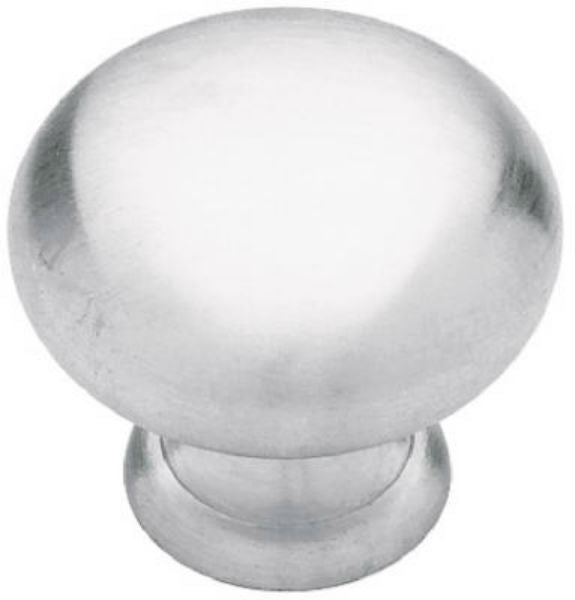 "Brainerd® 69271 Solid Brass Round Knob, 1-1/4"" Diameter, Satin Chrome"