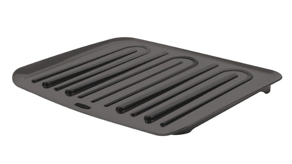 Rubbermaid® 1182-MA-BLA Microban® Antimicrobial Dish Drain Board, Large, Black