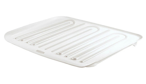 Rubbermaid® 1182-MA-WHT Microban® Antimicrobial Dish Drain Board, Large, White