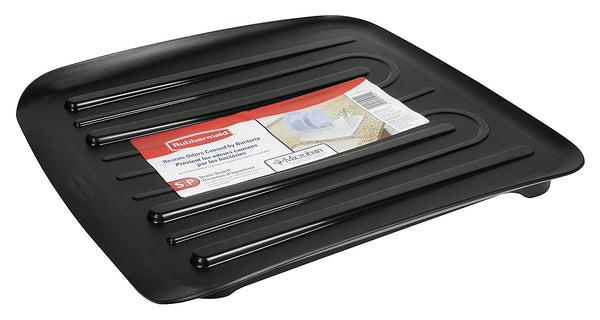 Rubbermaid® 1180-MA-BLA Microban® Antimicrobial Dish Drain Board, Small, Black