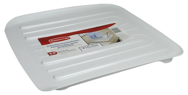 Rubbermaid® 1180-MA-WHT Microban® Antimicrobial Dish Drain Board, Small, White