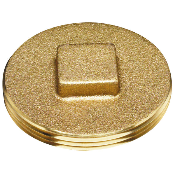 Oatey® 42372 Brass Cleanout Plug With Raised Head, 3""