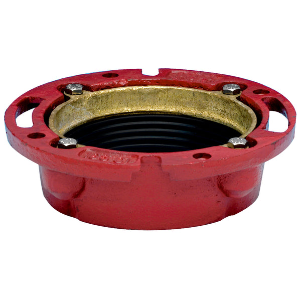"Oatey® 42255 Instant Set Closet Flange, Cast Iron, 4"" x 2"""