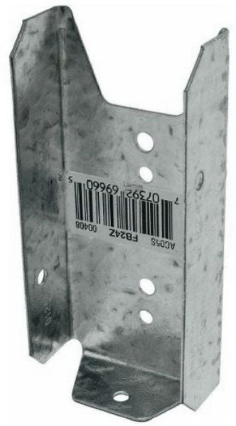 "Simpson Strong-Tie FB24Z Fence Bracket Z-Max, 2"" x 4"""