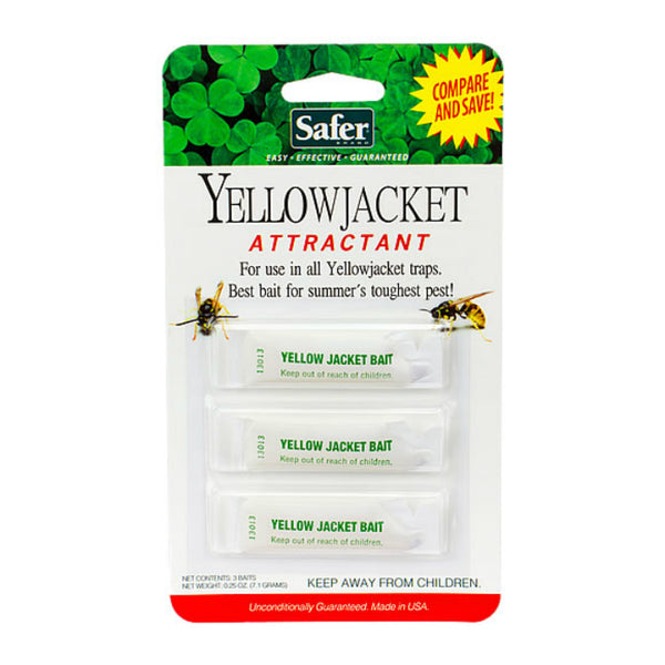 Safer® 02006 Deluxe Yellow Jacket & Wasp Trap Bait, 3-Pack