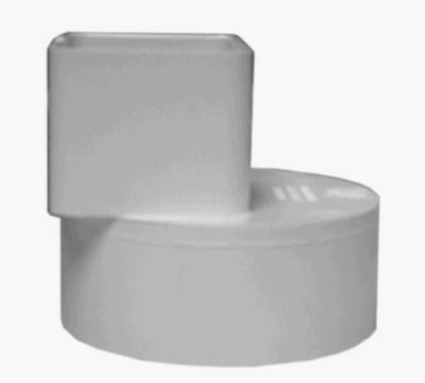 "Genova 46234 Offset Flush Fit Downspout Adapter, 2"" x 3"" x 4"""
