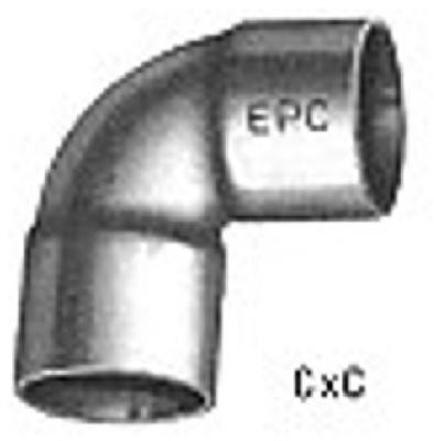 "Wrot Copper Reducing Elbow 3/4"" X 1/2"""