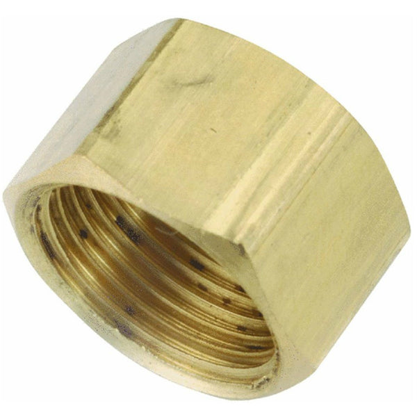 Anderson Metals 730081-04 Lead Free Compression Cap, Brass, 1/4""
