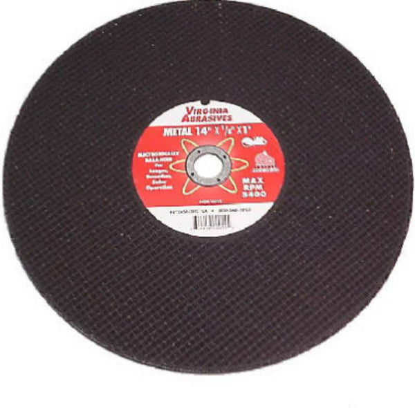 "Virginia Abrasives™ 424-15112 Metal & Steel Bonded Cutoff Wheel, 12""x1/8""x20 mm"