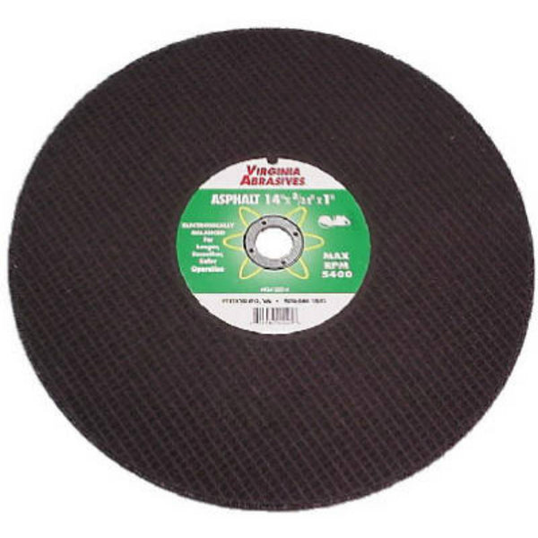 "Virginia Abrasives™ 424-21214 Asphalt/Green Concrete Cutoff Wheel, 14""x3/16""x1"""