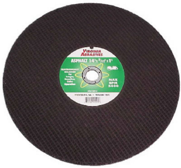 "Virginia Abrasives™ 424-23142 Asphalt Bonded Cut Off Wheel, 14"" x 1/4"" x 1""-D"