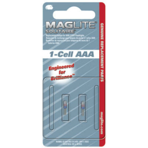 "Maglite LK3A001 Replacement Lamp for Solitaire ""AAA"" Flashlight, 2-Pack"