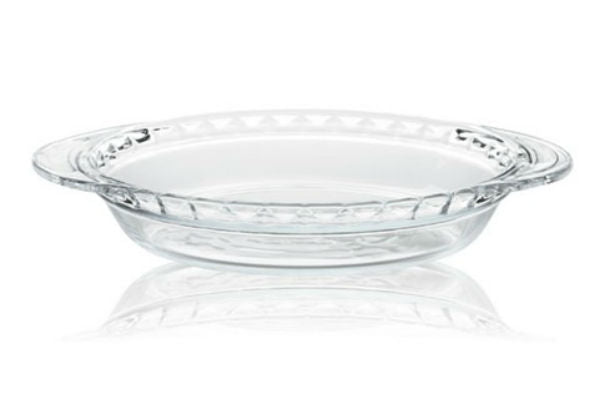 Pyrex® 1073356 Glass Pie Plate with Larger Handles, 9.5""
