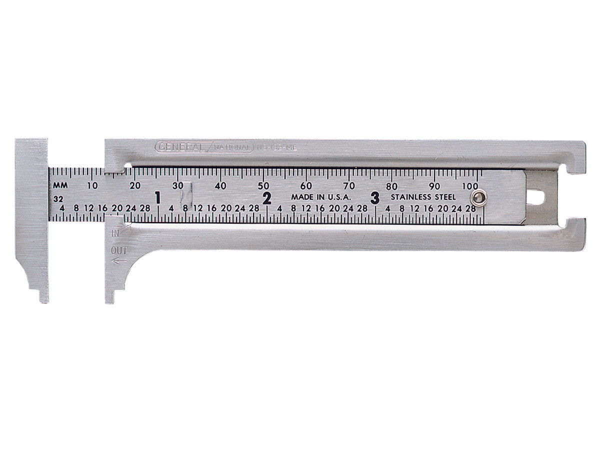 General Tools 132ME Caliper with Inside & Outside Readings, Stainless Steel