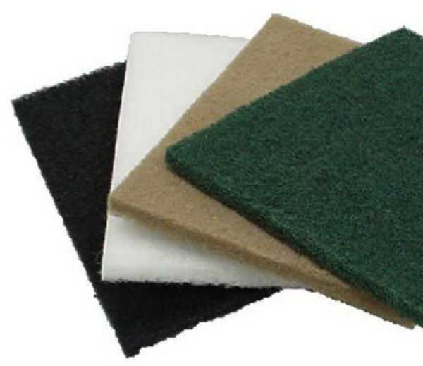 Virginia Abrasives 416-54187 Floor Maintenance Pads, Orbital, White Polish