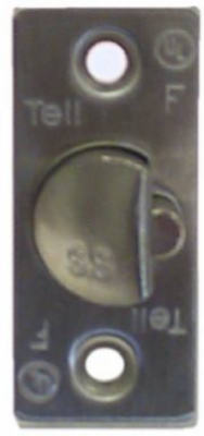 Tell CL100213 Satin Stainless Steel Guarded Latchbolt, 2-3/4""