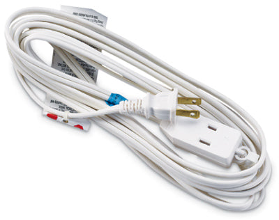 Master Electrician 09413ME All Purpose Extension Cord, 16/2 SPT-2, 13A, 12', White