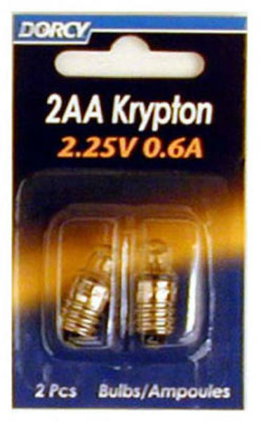 Dorcy® 41-1664 2AA Krypton Screw Base Replacement Bulbs, 2.25V, 0.6A, 2-Pack