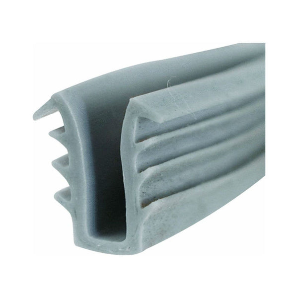 "Slide-Co P-7741 Glass Glazing Channel, 19/64"", 200', Gray"
