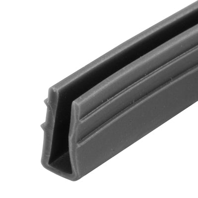 "Slide-Co P-7738 Glass Retaining Spline/Glazing ""U"" Channel, Gray Vinyl, 200'"