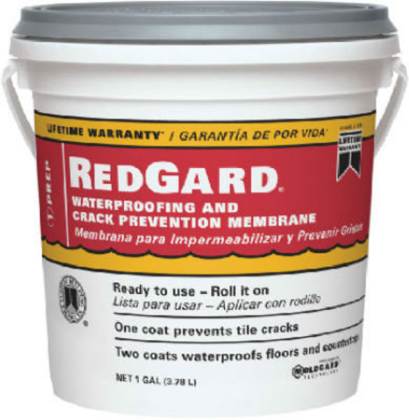 Custom® LQWAF1-2 RedGard® Crack Prevention & Waterproofing Membrane, 1 Gallon