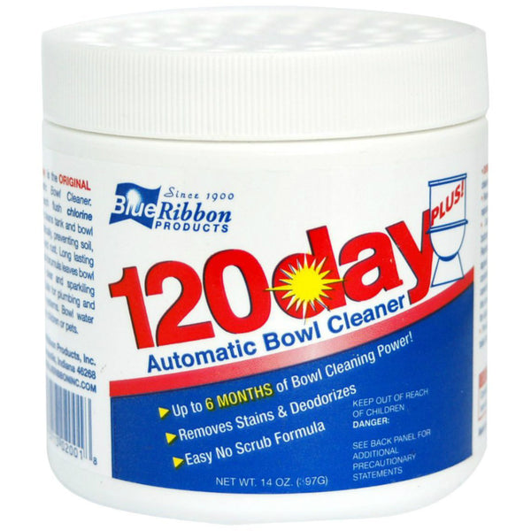 Blue Ribbon® 02001 120-Day Plus Automatic Toilet Bowl Cleaner, 14 Oz
