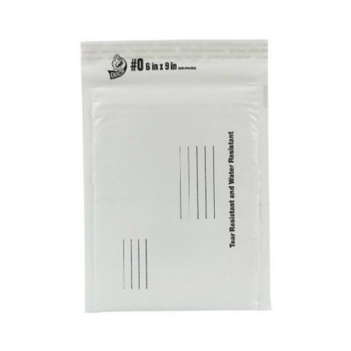 "Duck 00-11600 Padded Mailing Envelope, 6"" x 9"", White"