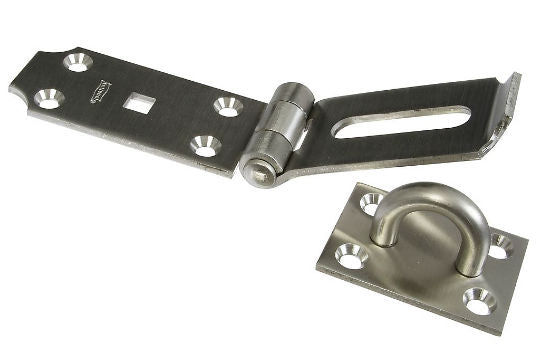 "National Hardware® N342-550 Safety Hasp, 7-1/2"", Stainless Steel"