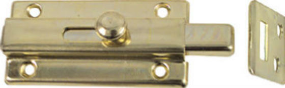 "National Hardware® N152-850 Slide Bolt, 3"", Brass"