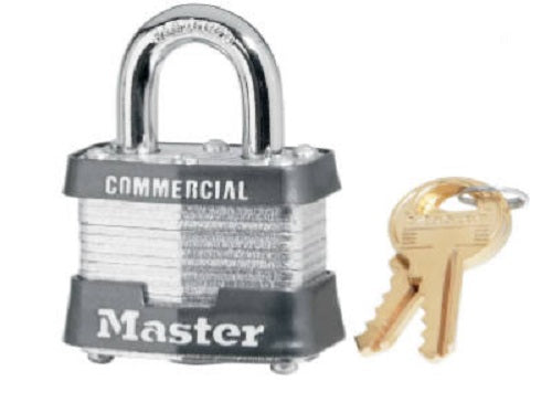 Master Lock 3KA-3769 Keyed Alike Laminated Steel Padlock, 1-9/16""