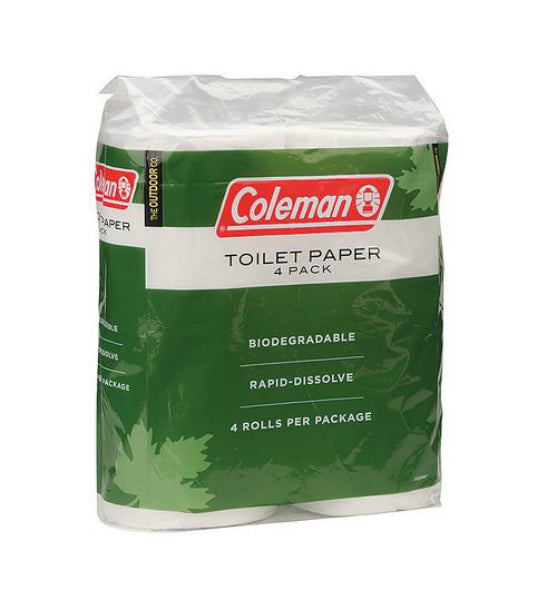 Coleman® 2000014861 Biodegradable Toilet Paper, 4 Roll Pack