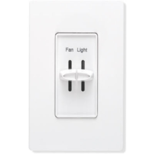 Lutron® S2-LFSQH-WH Skylark® Single Pole Quiet Light & Fan Control, 1.5A, White
