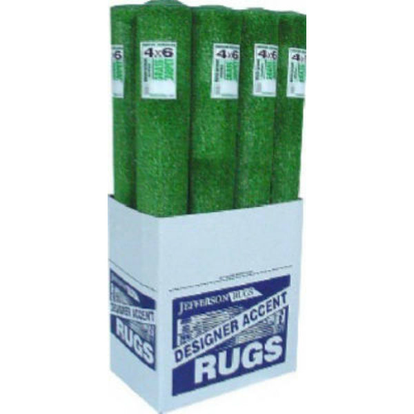 Jefferson Home Fashions GRA46D Heavy Weight Grass Area Rug, Green, 4' x 6'