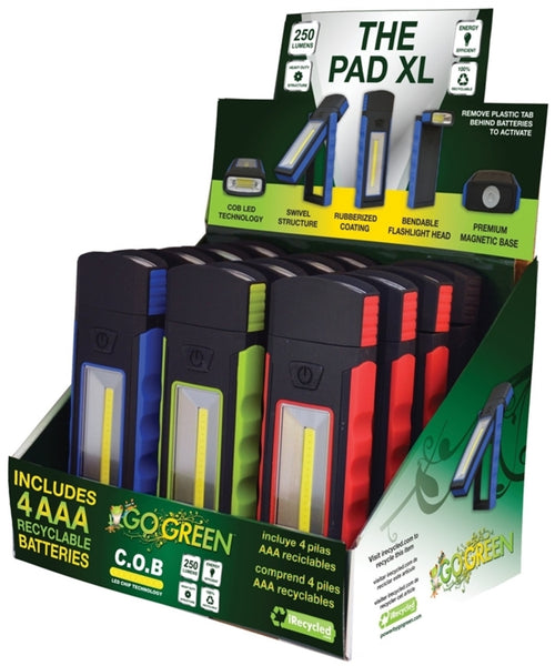 Go Green GG-113-PADXL The Pad XL LED Flashlight, 230 Lumens