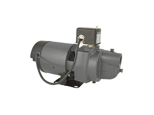Flint & Walling ES07S Shallow Well Jet Pump, Cast Iron, 3/4 HP