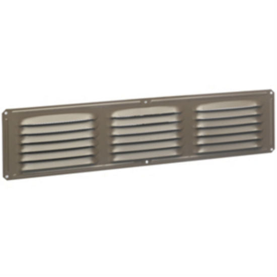 "Air Vent 84228 Aluminum Undereave Vent, Brown, 16"" x 4"""