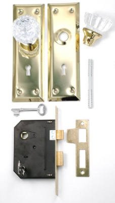 First Watch Security 1139 Keyed Mortise Lockset, Polished Brass