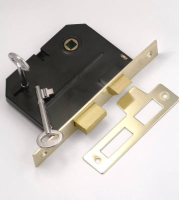 First Watch Security 1155 Bit Key Mortise Lock, Polished Brass