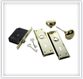 First Watch Security 1129 Keyed Mortise Lockset, Polished Brass