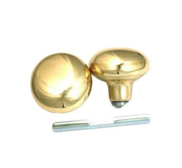 First Watch Security 1130 Solid Brass Door Knob Set With Spindle, 2-Count