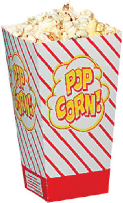 500Ct 8Oz Small Scoop Popcorn Box
